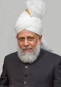 Hazrat Mirza Masroor Ahmad, the head of the Worldwide Ahmadiyya Muslim Community